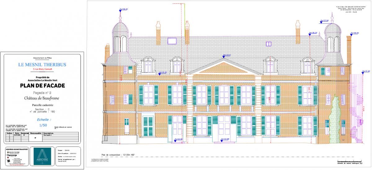 Plan de façade de bâtiment